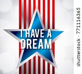 i have a dream blue star and... | Shutterstock .eps vector #771116365