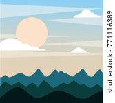 landscape evening mountains...   Shutterstock .eps vector #771116389