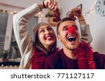 merry christmas and happy new... | Shutterstock . vector #771127117