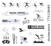 set of ski badges  sports... | Shutterstock .eps vector #771128485