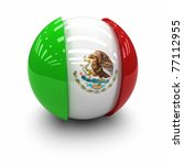 3d    flag of mexico | Shutterstock . vector #77112955