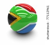3d    flag of south africa | Shutterstock . vector #77112961