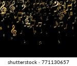 golden musical notes flying... | Shutterstock .eps vector #771130657