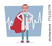 super male doctor. best trained ... | Shutterstock .eps vector #771131779