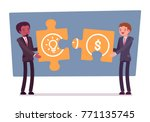 idea and money puzzle. young... | Shutterstock .eps vector #771135745