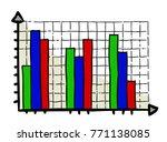 cartoon image of graph icon....