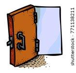 cartoon image of door icon....