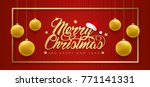 merry christmas and happy new... | Shutterstock .eps vector #771141331