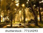 Temple Park In Ponferrada  Spain