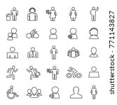 set of 25 simple lines people... | Shutterstock .eps vector #771143827