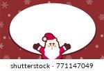 christmas card vector. santa... | Shutterstock .eps vector #771147049