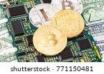 digital cryptocurrency bitcoin... | Shutterstock . vector #771150481