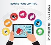 isometric remote home control ... | Shutterstock .eps vector #771151021