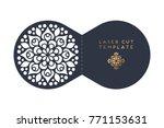 vector wedding card laser cut...   Shutterstock .eps vector #771153631