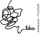 doodle illustration for... | Shutterstock .eps vector #771154249