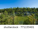 landscape of the area around... | Shutterstock . vector #771155401