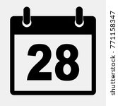 simple black calendar icon with ...