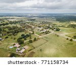 aerial of the small rural town... | Shutterstock . vector #771158734