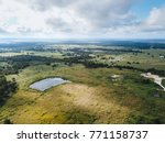 aerial of the small rural town... | Shutterstock . vector #771158737