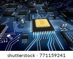 bitcoin concept  printed... | Shutterstock . vector #771159241