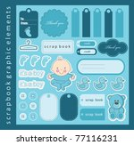 Baby Boy Scrapbook Elements....