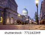 dawn in the old town montreal  | Shutterstock . vector #771162349