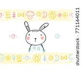 t shirt print design for kids... | Shutterstock .eps vector #771164011