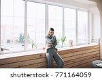 beautiful white stylish woman... | Shutterstock . vector #771164059