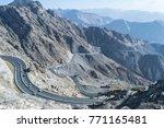 al hada mountain in taif city ... | Shutterstock . vector #771165481