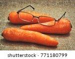 effect of carrots on human... | Shutterstock . vector #771180799