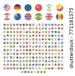 all countries world rounded... | Shutterstock .eps vector #771181375