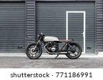 vintage motor cycle parking... | Shutterstock . vector #771186991