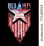 American Grunge Flag. An...