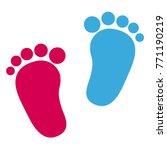 baby footprint   girl and boy... | Shutterstock .eps vector #771190219