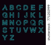 modern linear typographic... | Shutterstock .eps vector #771202999