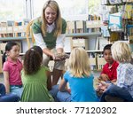 teacher in class showing... | Shutterstock . vector #77120302