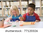 two students in art class... | Shutterstock . vector #77120326
