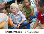 students in class sitting on... | Shutterstock . vector #77120353