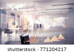 hand of businesswoman working... | Shutterstock . vector #771204217