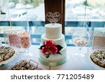 dessert table for a party.... | Shutterstock . vector #771205489