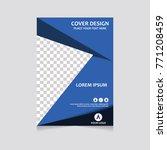 annual report  flyer ... | Shutterstock .eps vector #771208459