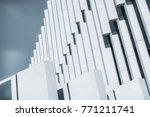 side view of abstract white... | Shutterstock . vector #771211741
