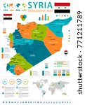 syria infographic map and flag  ... | Shutterstock .eps vector #771211789