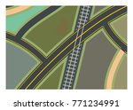 road branch and lanes with... | Shutterstock .eps vector #771234991