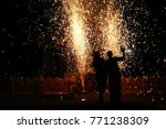the silhouette of two people... | Shutterstock . vector #771238309