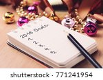 goals 2018 list with decoration.... | Shutterstock . vector #771241954