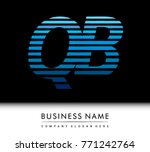 initial letter logo qb colored...