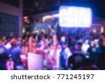 blurry night club dj party... | Shutterstock . vector #771245197