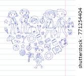 family with children travel... | Shutterstock .eps vector #771254404