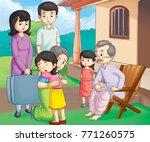 illustration of family   Shutterstock . vector #771260575